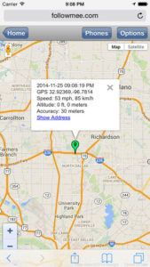 Smartphone Tracking App for iPhones