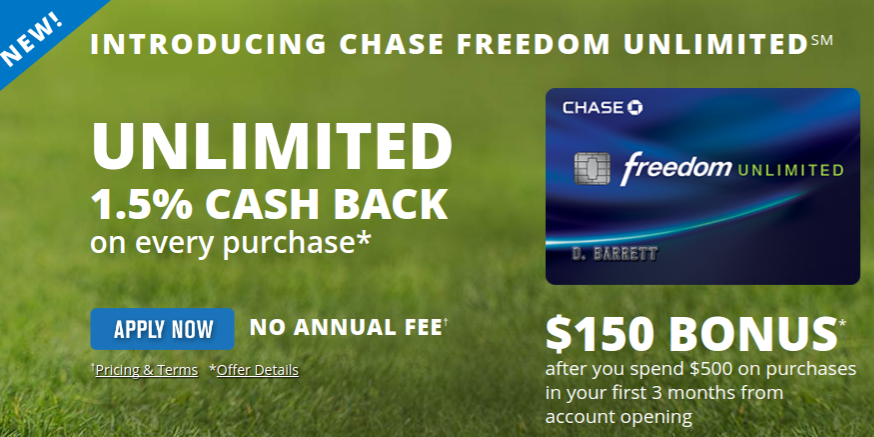 Chase Freedom Credit Card Zero APR Terms