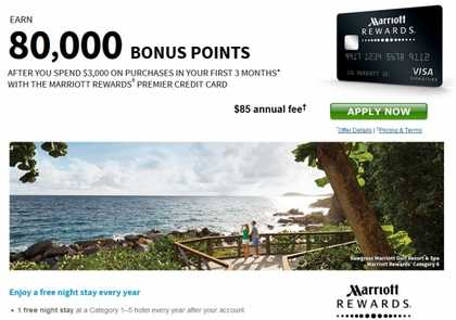 Premier Rewards Credit Card from Marriott