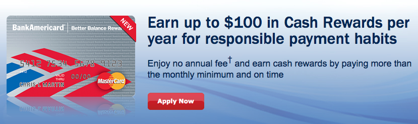 The Bank of America Better Balance Cashback Rewards Credit Card
