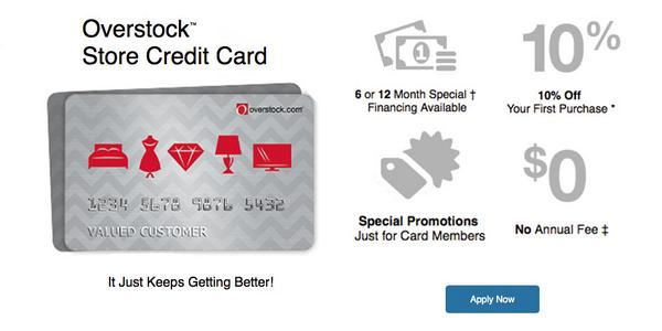 OverStock Store Rewards Credit Card