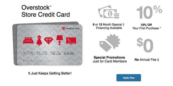 OverStock Store Rewards Credit Card