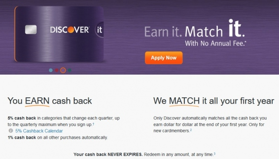 Discover it Cashback Rewards Credit Card