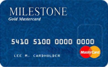 The Milestone MasterCard Credit Card