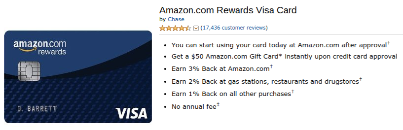 Amazon Rewards VISA Credit Card
