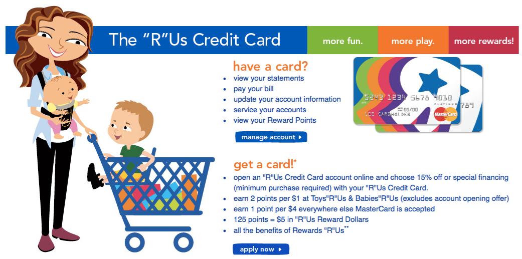 Toys R Us Store Rewards Credit Card