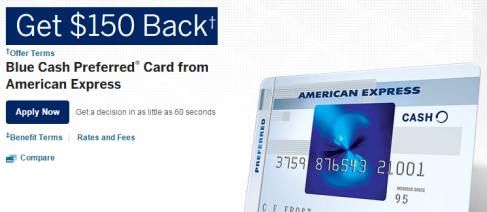 The Blue Cash Preferred Card from American Express Cashback Rewards Credit Card