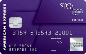 Starwood Preferred Guest Hotel Rewards Travel Credit Card