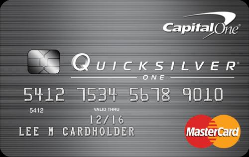 Capital One QuicksilverOne Cashback Rewards Card