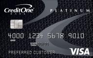 Credit One Bank Bad Credit Unsecured VISA card